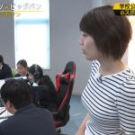【画像・GIF】テレ東・FOOTBRAINで佐藤美希さんのおっぱいがビッグバン?