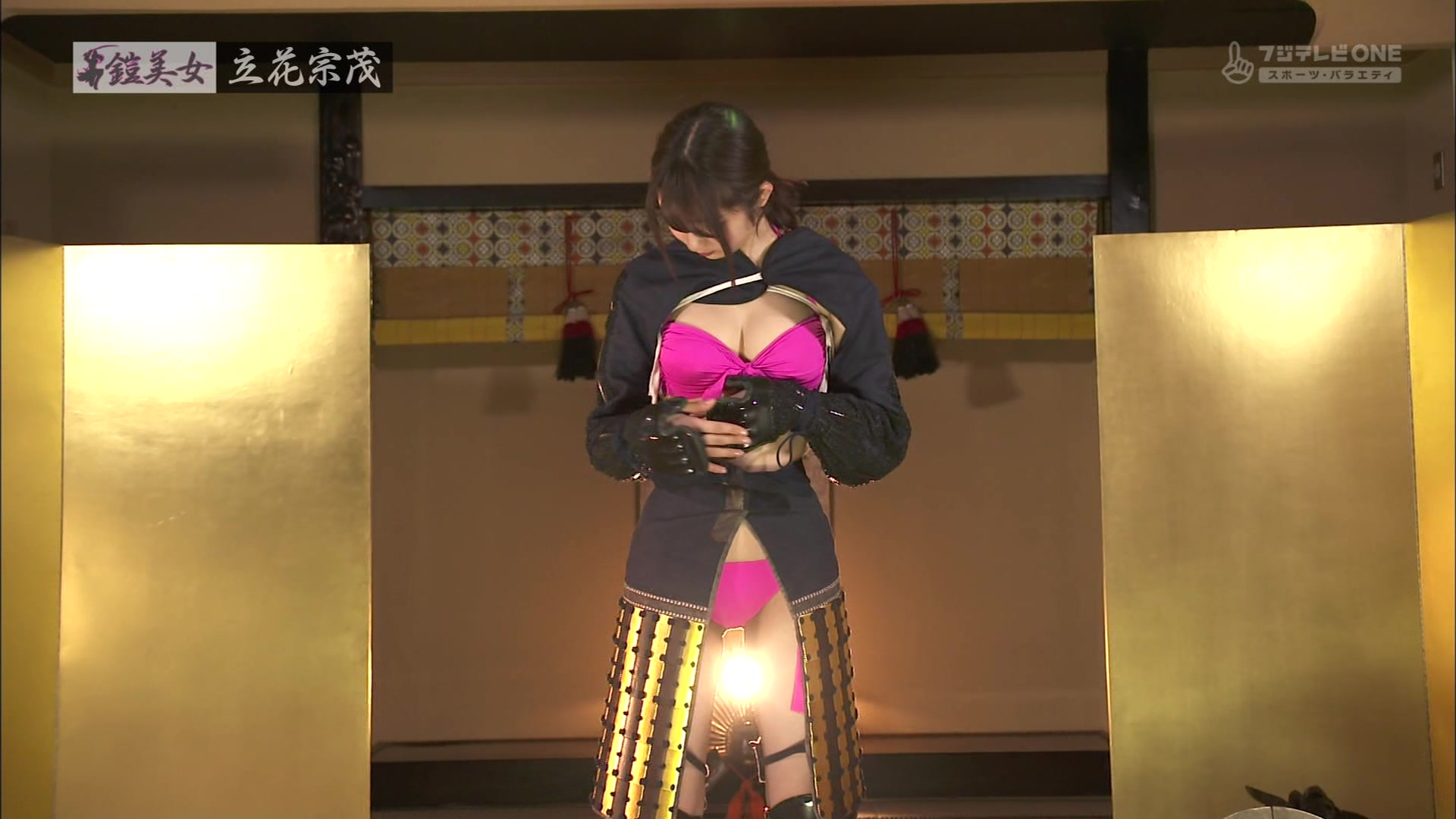 鎧美女47・美音咲月さんのテレビキャプチャー画像-010