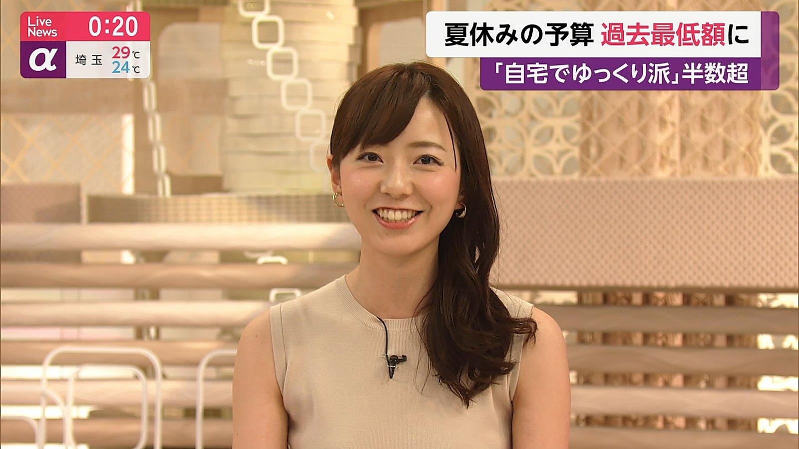 2019年7月19日「FNN Live News α」内田嶺衣奈さんのテレビキャプチャー画像-168