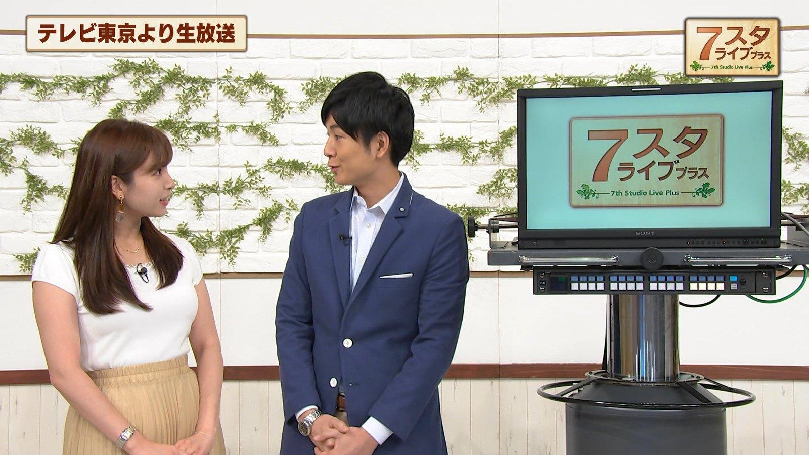2019年8月16日に放送された「7スタライブ」に出演した角谷暁子さんの画像-018