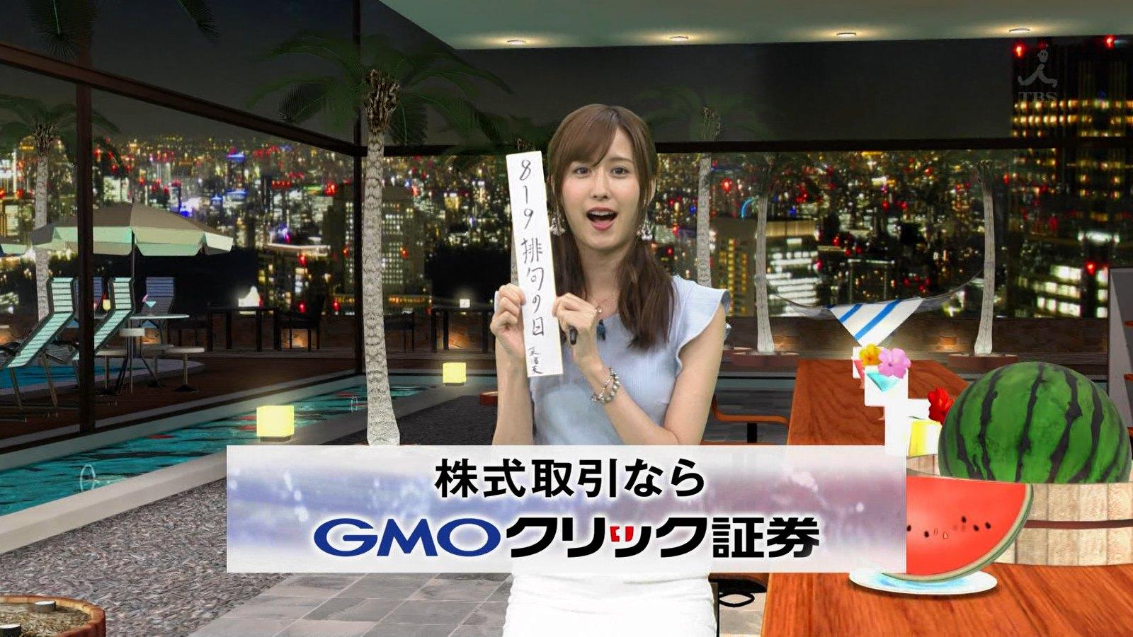 2019年8月19日放送された「ビジネス・クリック」に出演した阿部菜渚美さんのテレビキャプチャー画像-086