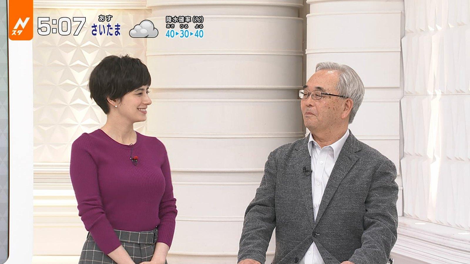 2019年9月3日にTBS系列で放送された「Nスタ」に出演したタレント・ホラン千秋さんのテレビキャプチャー画像-009
