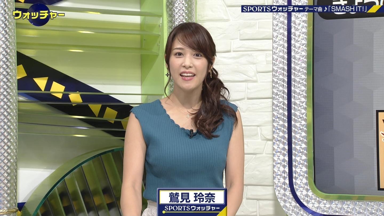 2019年9月4日「スポーツウオッチゃー」鷲見玲奈さんのテレビキャプチャー画像-115