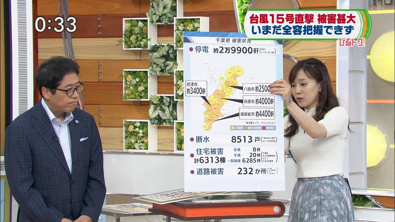 2019年9月19日に放送された「ひるおび!」に出演した女性アナウンサー・江藤愛さんのテレビキャプチャー画像-014
