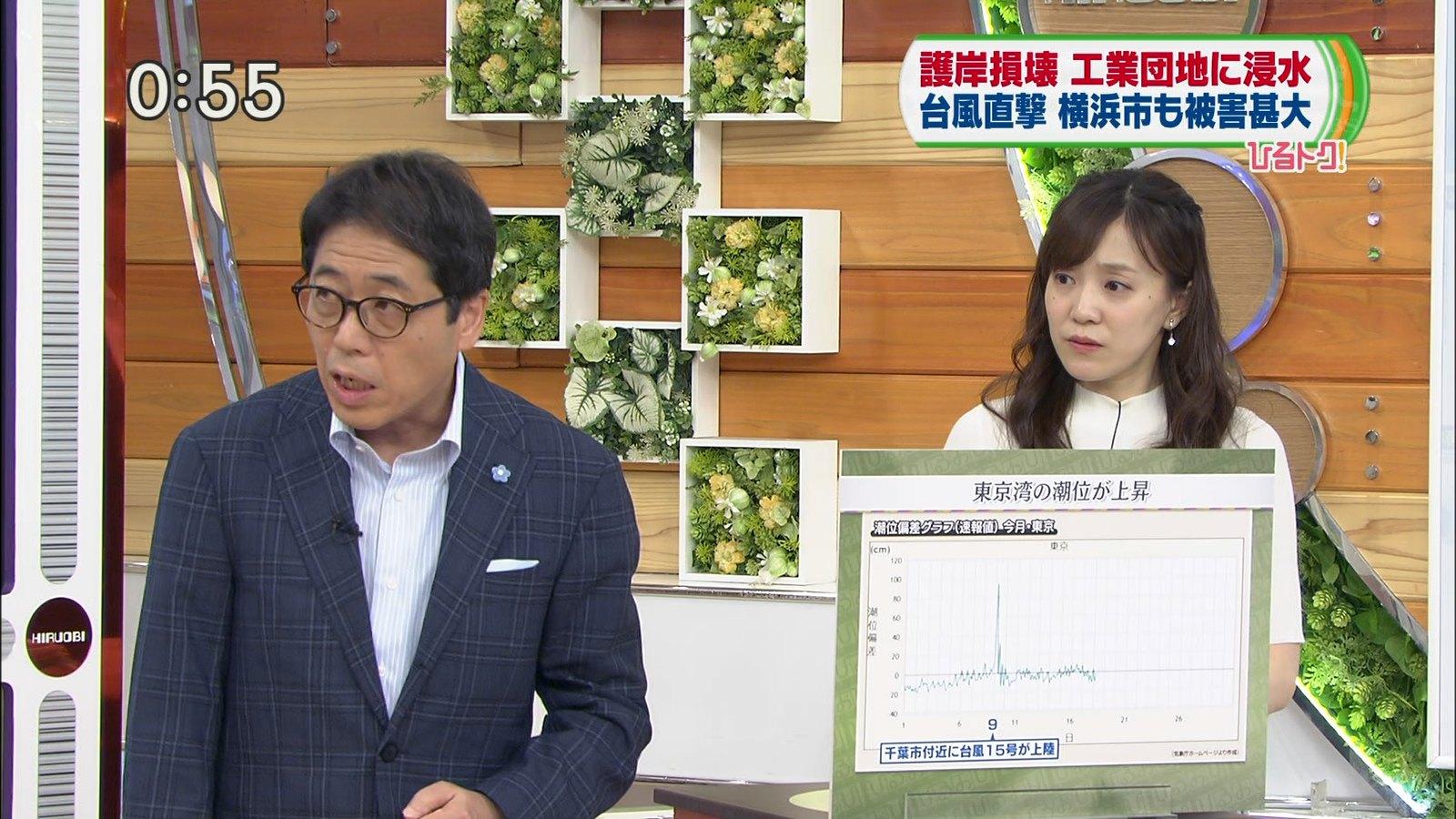 2019年9月19日に放送された「ひるおび!」に出演した女性アナウンサー・江藤愛さんのテレビキャプチャー画像-019