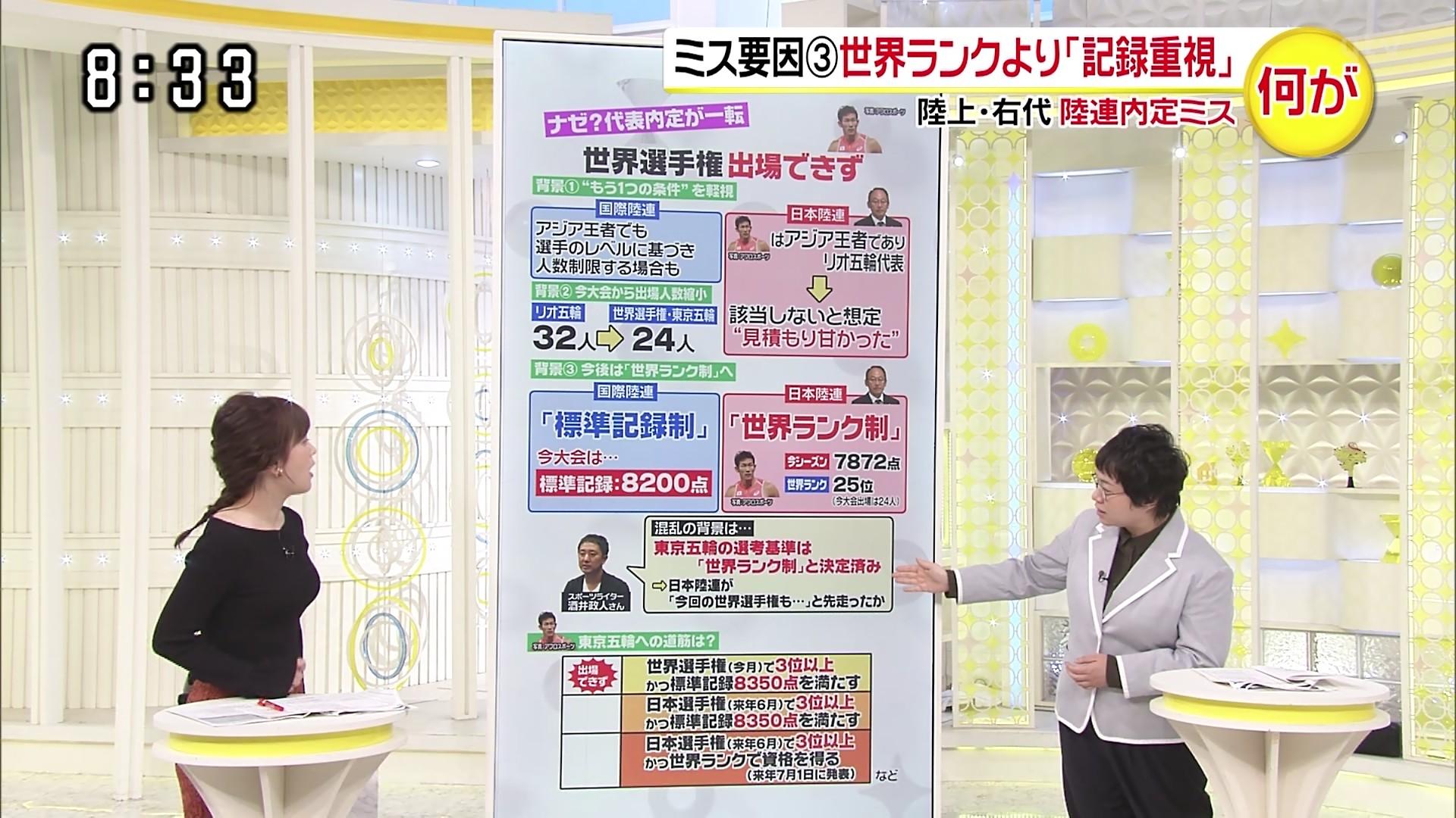 2019年9月19日に放送された「スッキリ」に出演した水卜麻美さんのテレビキャプチャー画像-033