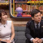 【画像】テレビ東京「FOOT×BRAIN」で鷲見玲奈さんのホワイト系ノースリーブおっぱいの膨らみがスゴ∃???