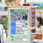 【画像】TBS「ひるおび!」で女性アナウンサー・宇賀神メグさんのちょっと気になるおっぱいの膨らみ…?