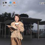 【画像】 めざましテレビのお天気キャスター・阿部華也子さん、風に吹かれてテロテロ衣装がお股に張り付いてこんもり???