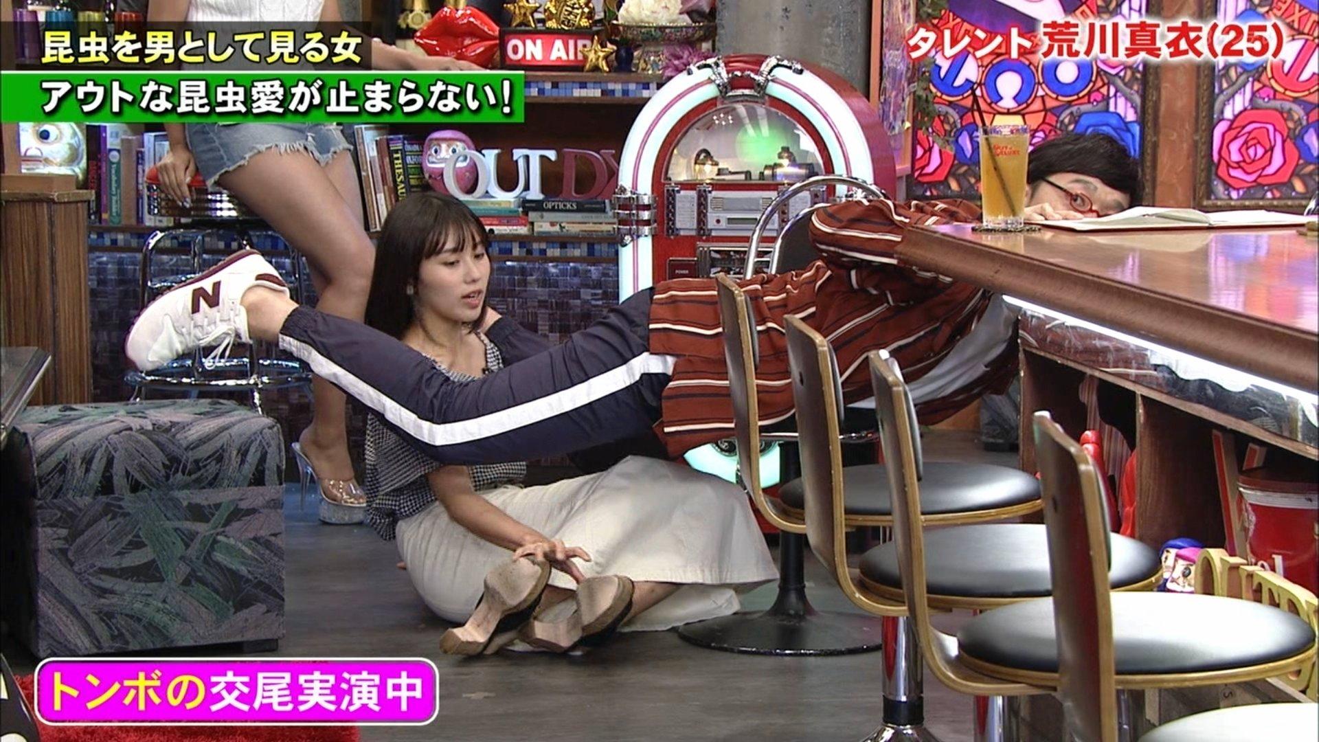 2019年10月10日に放送された「アウトデラックス」に出演したの荒川真衣さんのテレビキャプチャー画像-016