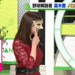 【画像】TOKYO MXテレビ「バラいろダンディ」 で森山るりさんの幅広ツンツン着衣おっぱいがエロ∃😍😍😍