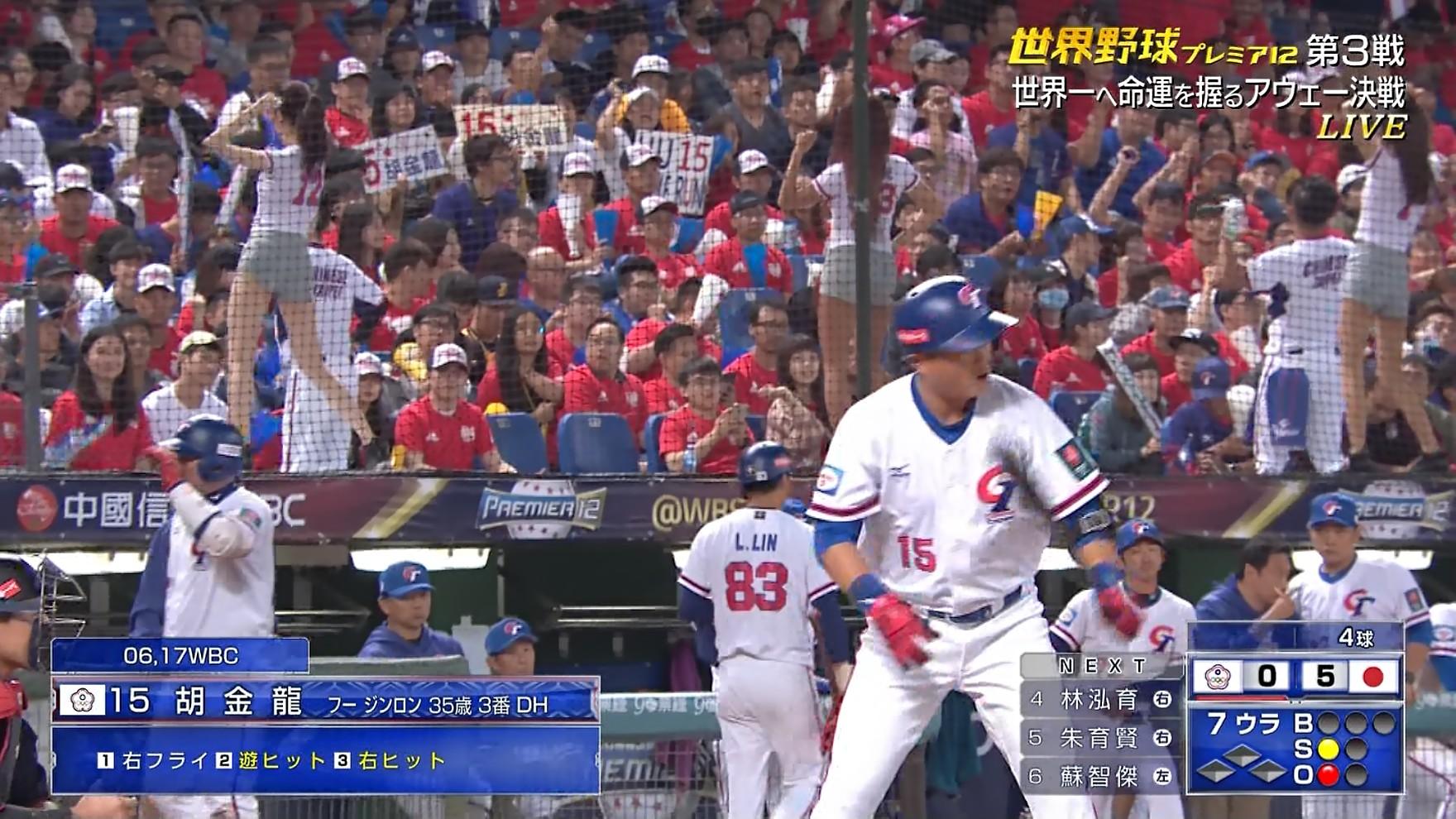 世界野球プレミア12 日本vs台湾のテレビキャプチャー画像-343