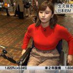【画像】テレビ東京「モーニングサテライト」で女性アナウンサー・角谷暁子さんのぐいっと前に出るタイプのおっぱい😍😍😍😍😍😍