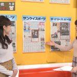 【画像】テレビ朝日「グッド!モーニング」でフリーアナウンサー・新井恵理那さんのツンツンニットおっぱい😍😍😍😍😍