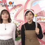 【画像】Oha!4 NEWS LIVEの笹崎里菜さん、白ニットおっぱいをぐいっと前に突き出す😍😍😍😍😍😍