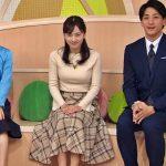 【画像】日本テレビ「news zero」に出演した女子アナ・河出奈都美さんの白ニットおっぱいがデカ∃😍😍😍😍😍😍😍