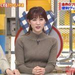 【画像】TBS「所さんお届けモノです!」で新井恵理那さんのニットおっぱいの膨らみがエロ∃😍😍😍😍😍