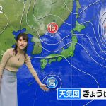 【画像】気象予報士・久保井朝美さんのニットおっぱいがデカくてエロ∃😍☀😍☀😍☀😍☀😍☀