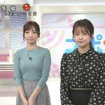 【画像】日本テレビ「Oha!4 NEWS LIVE」でフリーアナウンサー・内田敦子さんのニットおっぱいがエロ∃😍😍😍😍😍😍