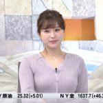 【画像】テレビ東京「Newsモーニングサテライト」で女性アナウンサー・角谷暁子さんのおっぱいウキウキニット衣装がエロ∃😍😍😍😍😍