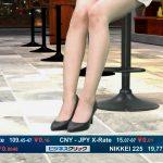 【画像】モデル・菜波さんの脚と太ももがセクシーなTBS「ビジネスクリック」😍💹😍💹😍💹😍💹😍💹