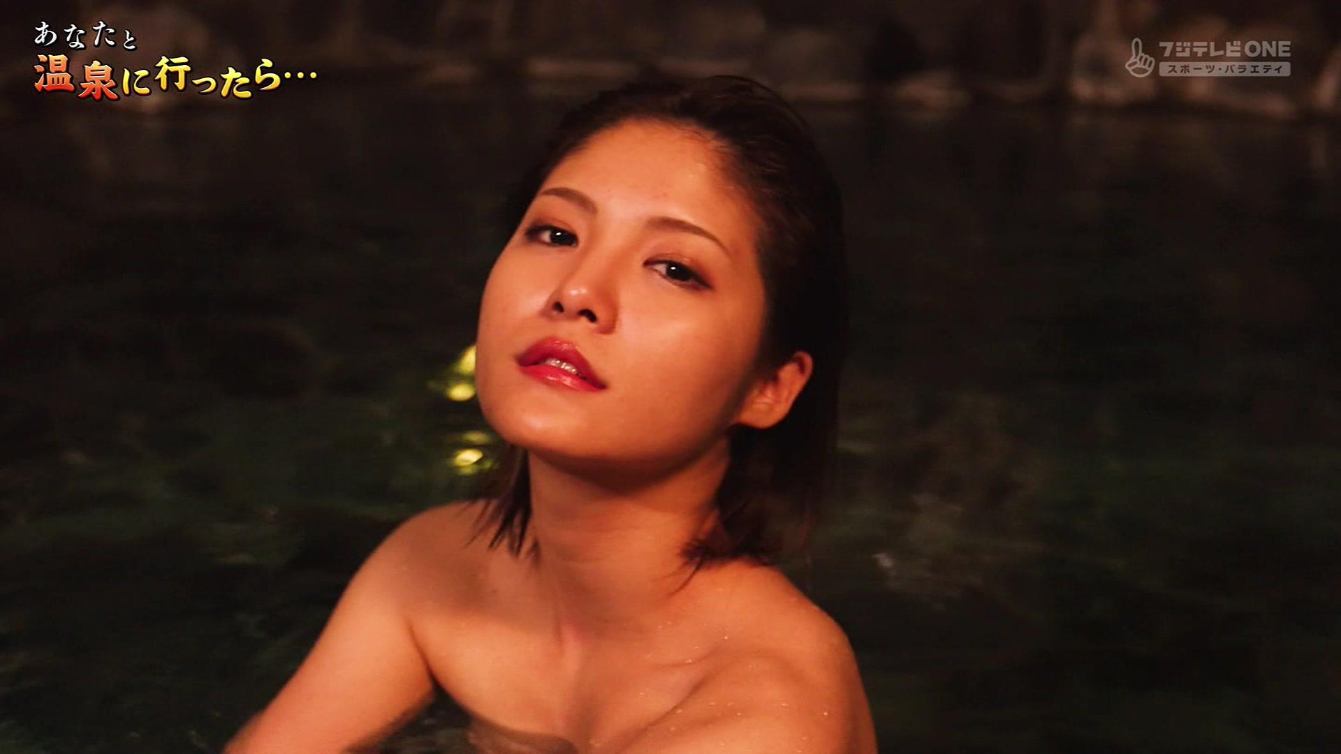 CSフジテレビONEで放送された「あなたと温泉に行ったら」♯2に出演した麻木玲那さんのテレビキャプチャー画像-118