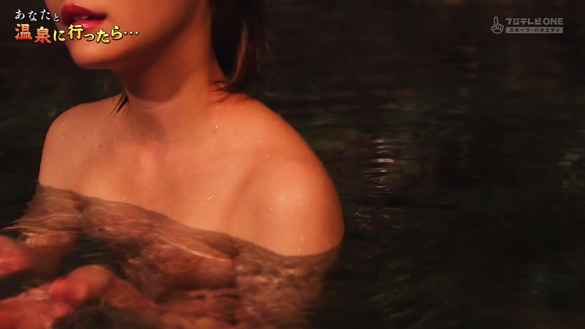 CSフジテレビONEで放送された「あなたと温泉に行ったら」♯2に出演した麻木玲那さんのテレビキャプチャー画像-119